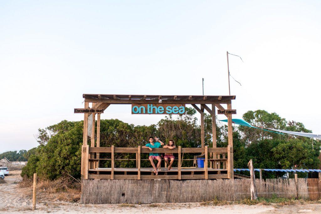 On the sea playa del palmar