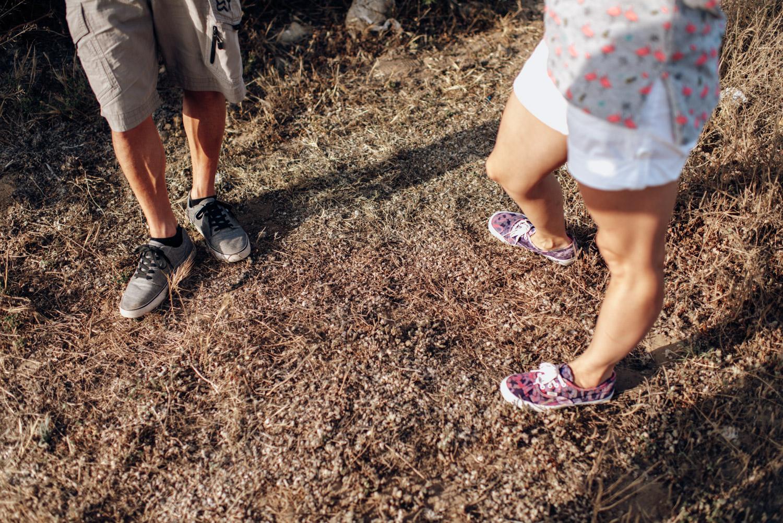 piernas de los novios