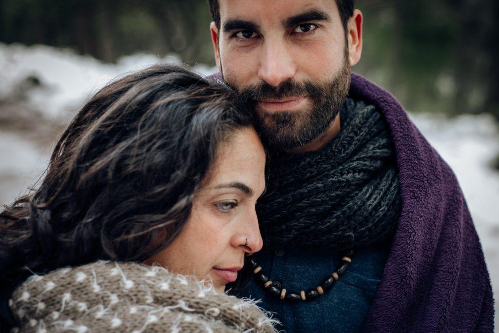 retrato de pareja en preboda Málaga